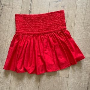 MARYSIA Swim Red skirt/top with French knots